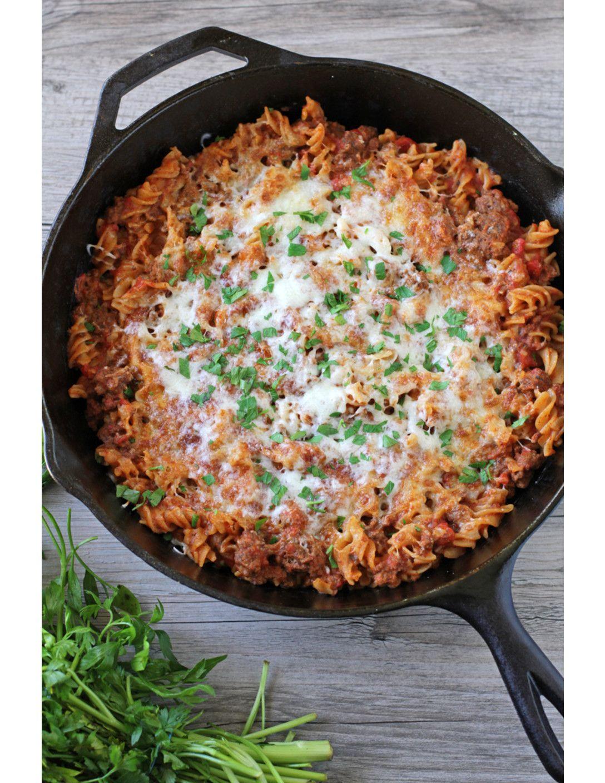 One Pan Cheesy Beef Pasta Low Fodmap Recipe Low Fodmap Recipes Fodmap Recipes Beef Pasta