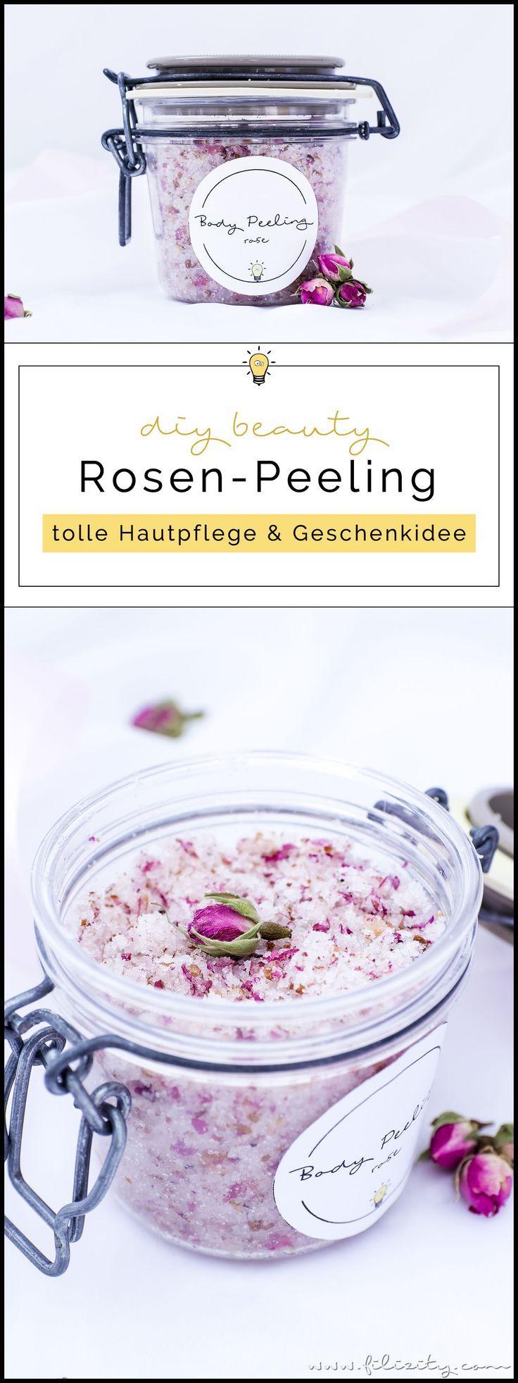 Rosen-Peeling selber machen - DIY Hautpflege & Geschenkidee für Valentinstag #diyskincare