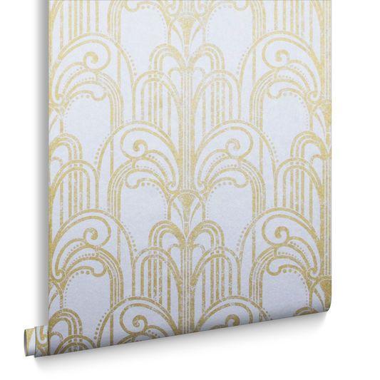 art deco or et perle papier peint large deco papier. Black Bedroom Furniture Sets. Home Design Ideas