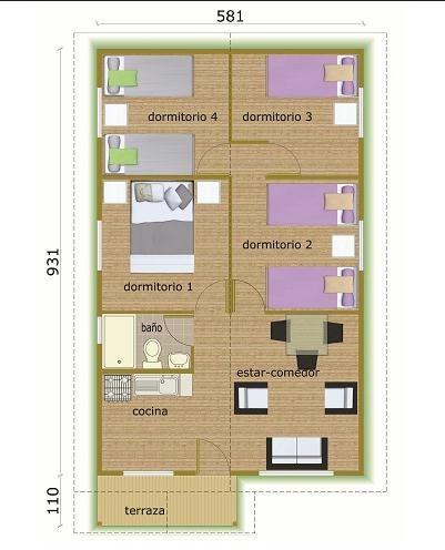 Plano de caba a planos de casas peque as pinterest - Planos de cabanas de madera ...