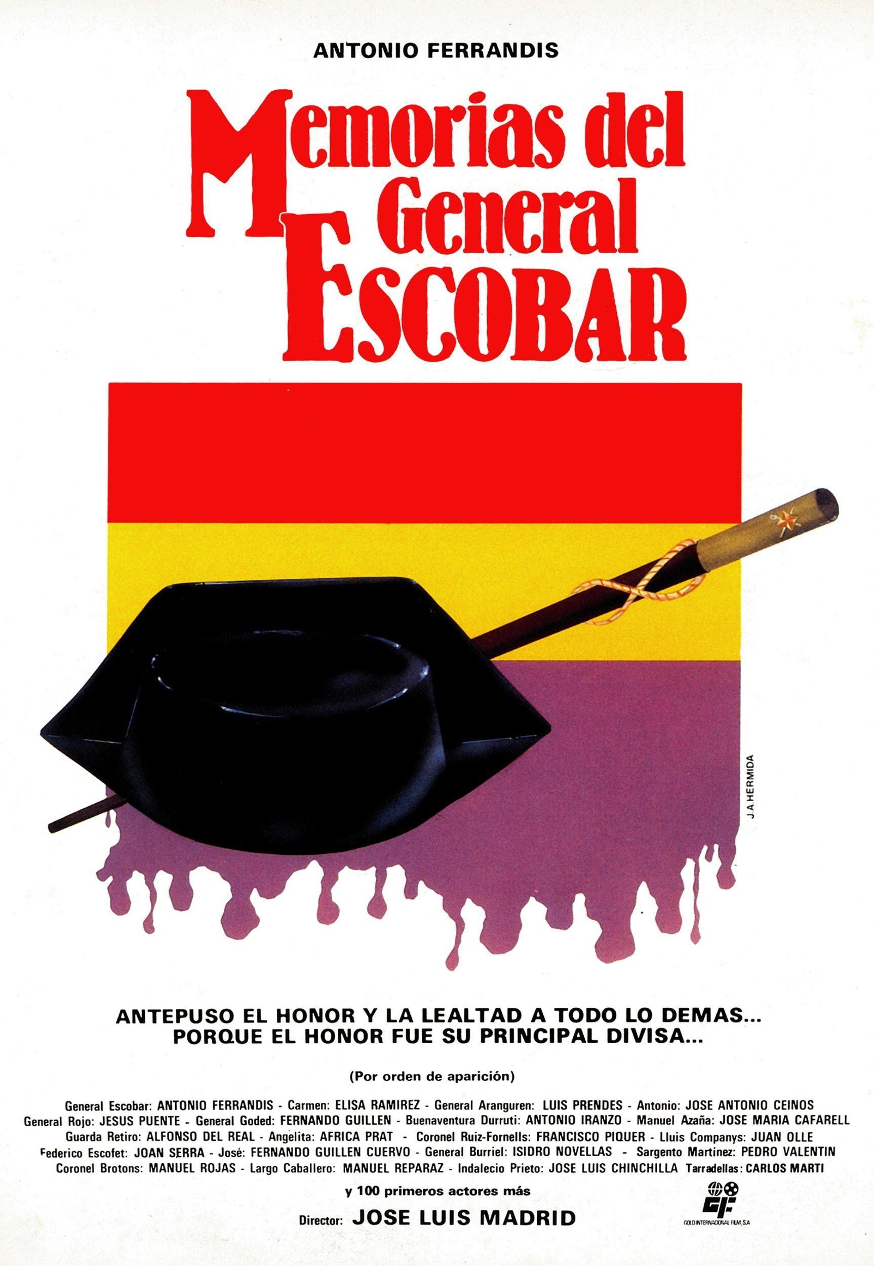 Memorias Del General Escobar Carteles De Cine Memoria Cine