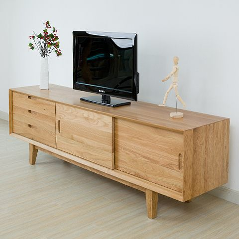 Nordic klein appartement 1.8m eiken hout minimalistische woonkamer ...