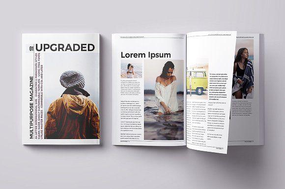Upgraded Magazine Template by h.utomo on @creativemarket # ...