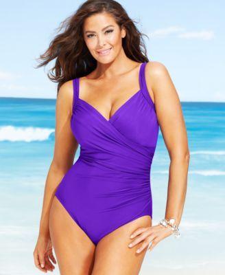 miraclesuit plus size sanibel one-piece swimsuit | macys