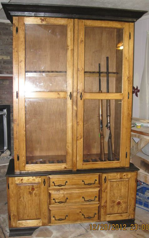 Knotty Pine gun cabinet visit www.allenswoodworking.com for more ...