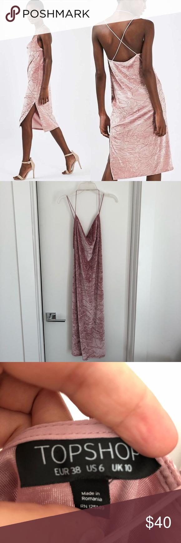 Crushed velvet topshop dress pink my posh picks pinterest