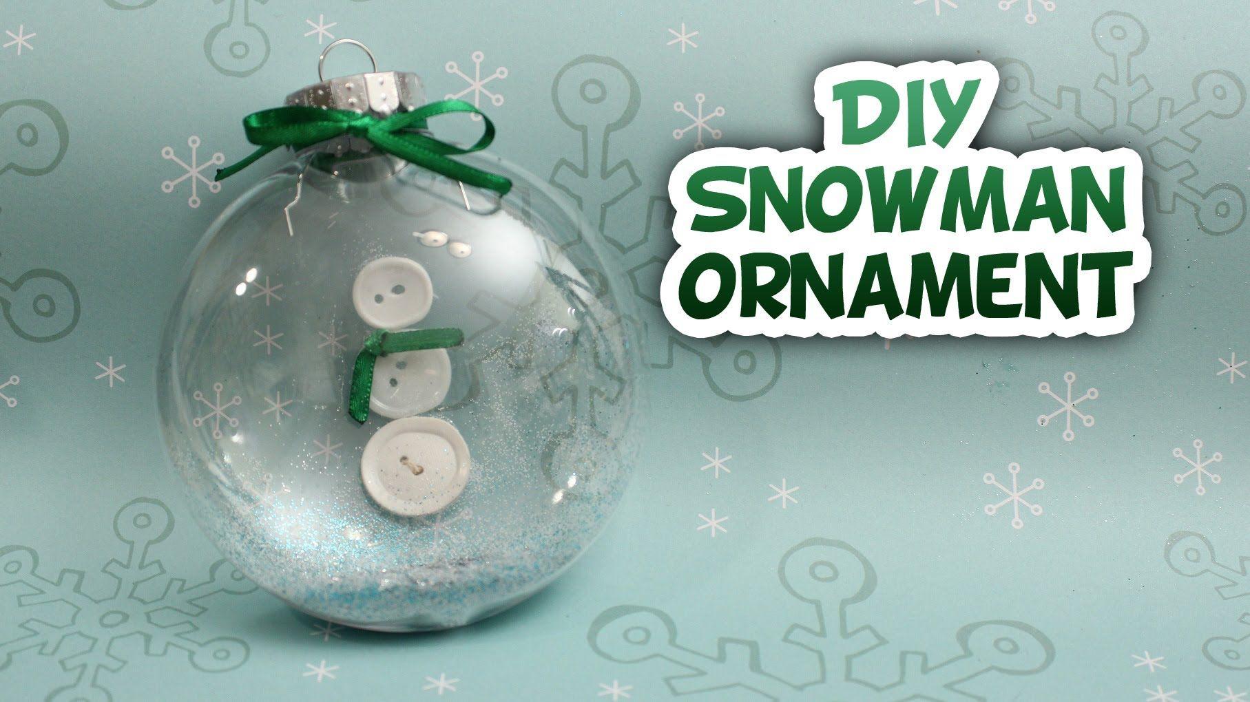 Snowman Snow Globe Ornament Whitney Crafts Globe Ornament Snowman Snow Globe Diy Snowman Ornaments