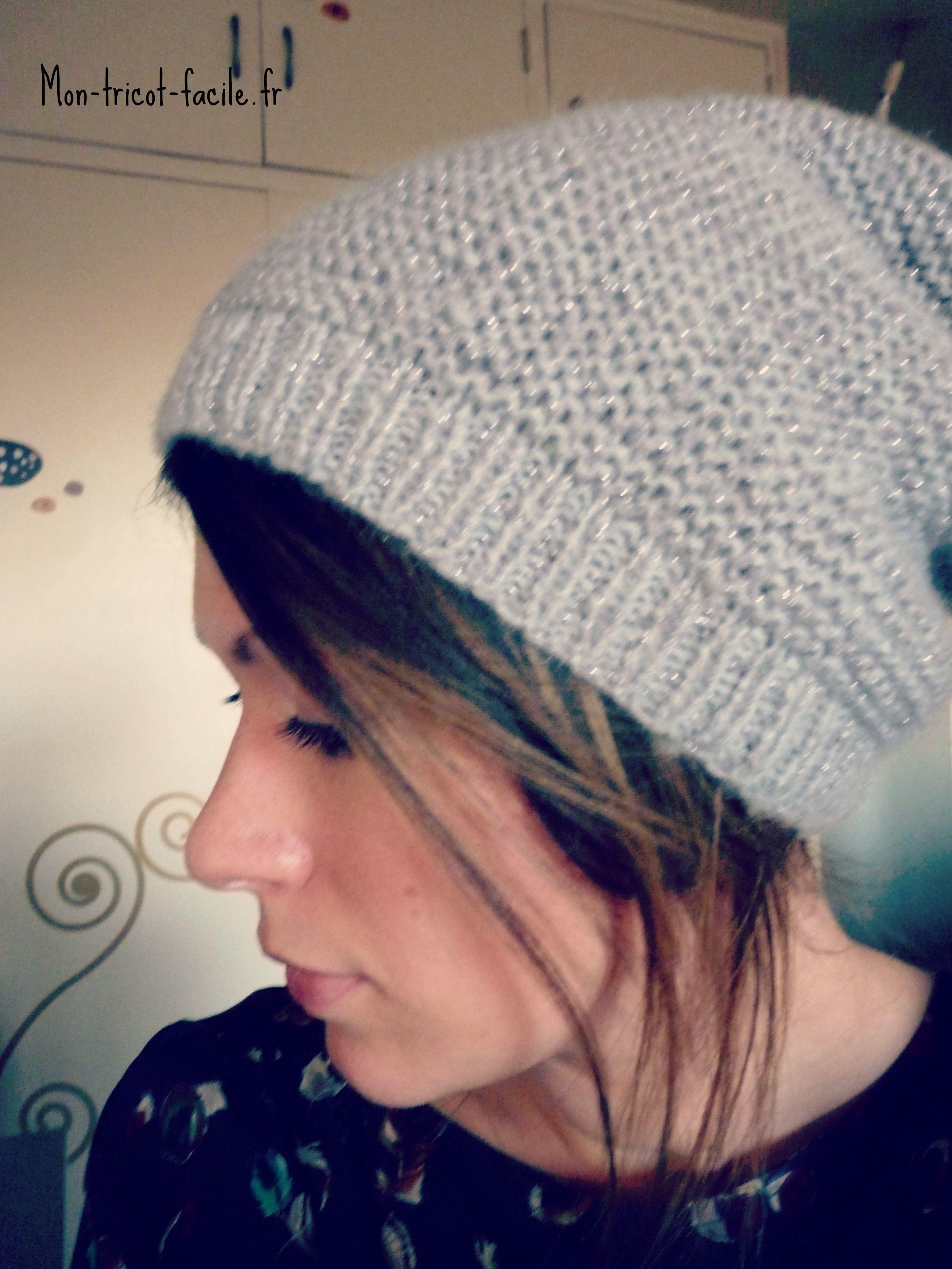 C est le moment de se lancer et de tricoter un bonnet femme au point ... 47f7e8c0fa9