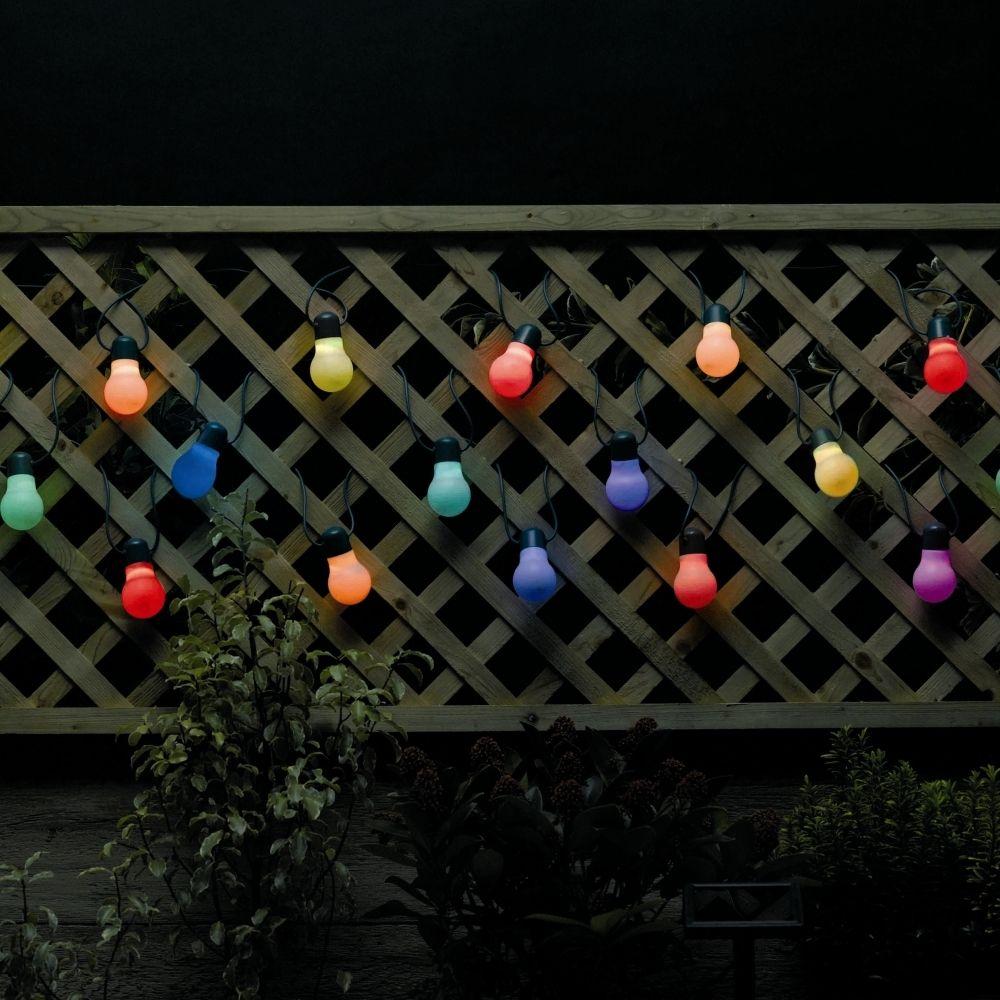 Guirlande guinguette solaire Party Light L. 10 m | Luminaires ...