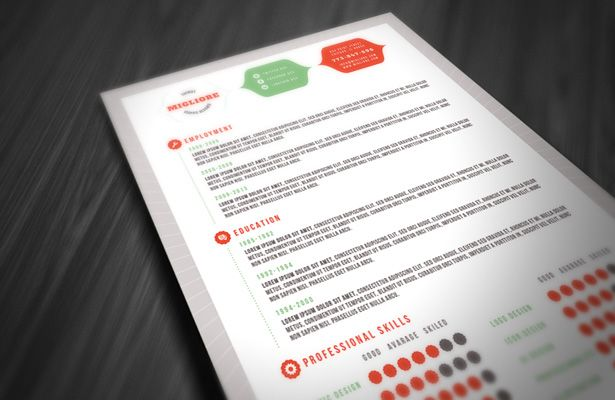 Colorful Resume Template Oh Yess Pinterest - colorful resume templates