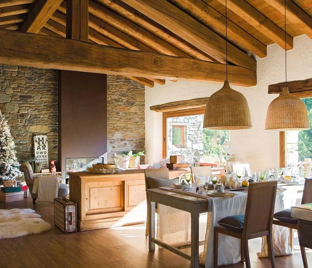 Casa vigas a la vista buscar con google vigas a la - Casas de campo decoracion interior ...