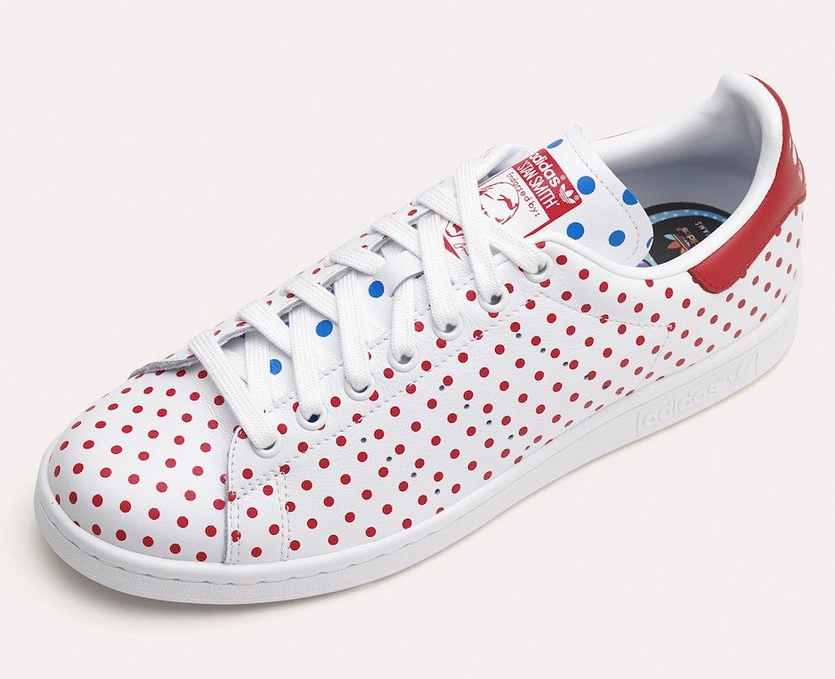 Pharrell Stan Smith - small polka dots. Great collaboration between Pharrell  Williams and Adidas