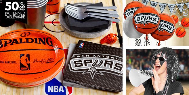 San antonio spurs party supplies san antonio spurs party for Spurs decorations