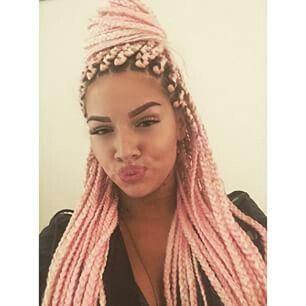 pink braids by shirin david hair pinterest frisur ideen haar ideen and braune haare. Black Bedroom Furniture Sets. Home Design Ideas