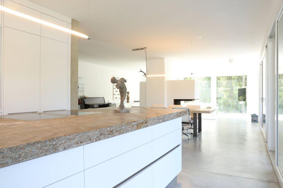 Raum architekten minimalistische küchen einfamilienhaus innenarchitektur wohnen ideen bauhaus villen