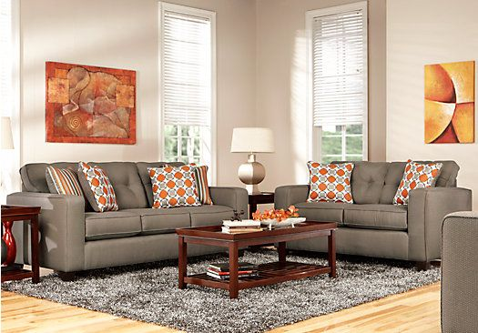 Shop For A Briar Row Gray 3Pc Classic Living Room At Rooms To Go. Find