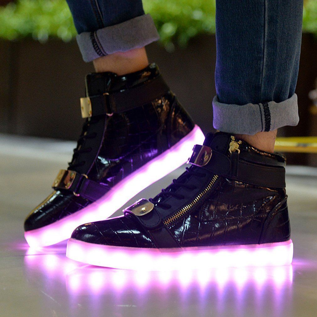Topteck LED Luz Luminosos Light Up Flashing Sneakers Zapatos Deportivos de  la Zapatillas de Deporte: Amazon.com.mx: Deportes y Aire Libre