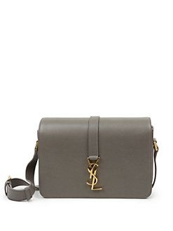 4afd195c755 Saint Laurent - Saint Laurent Monogram Universite Medium Textured Leather  Crossbody Bag