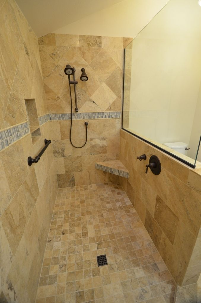 Want A Walk In Shower With No Curtain Or Door Walk In Shower Designs Doorless Shower Shower Tile Tile Walk In Shower