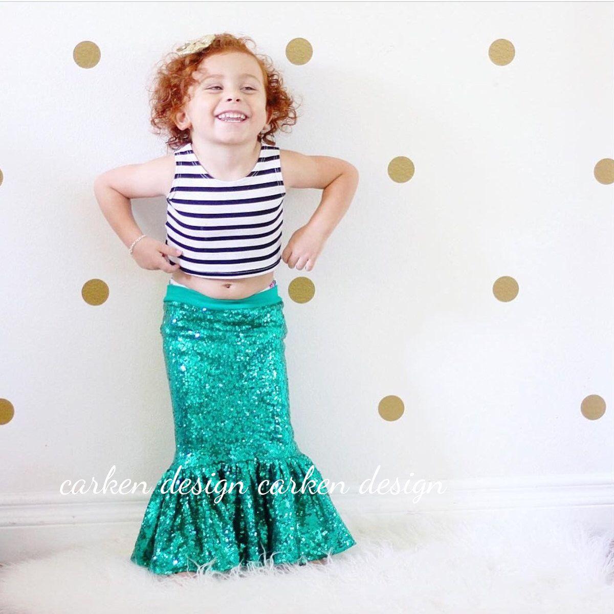 mermaid party skirt mermail tail toddler halloween mermaid costume ...