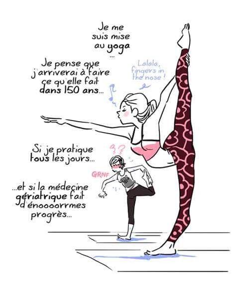 Da Da Daa Illustration De Yoga Dessin Humour Sport Humour