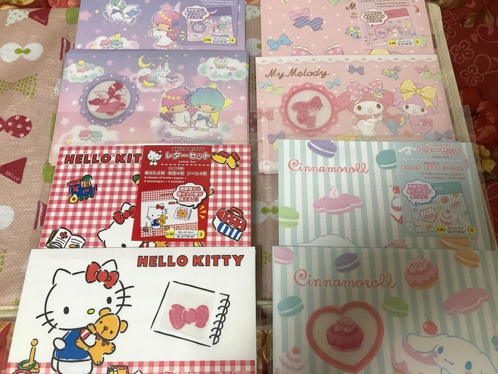 Daiso × SANRIO My Melody Kawaii Lovely Letter Set With Sticker Pink Japan New!