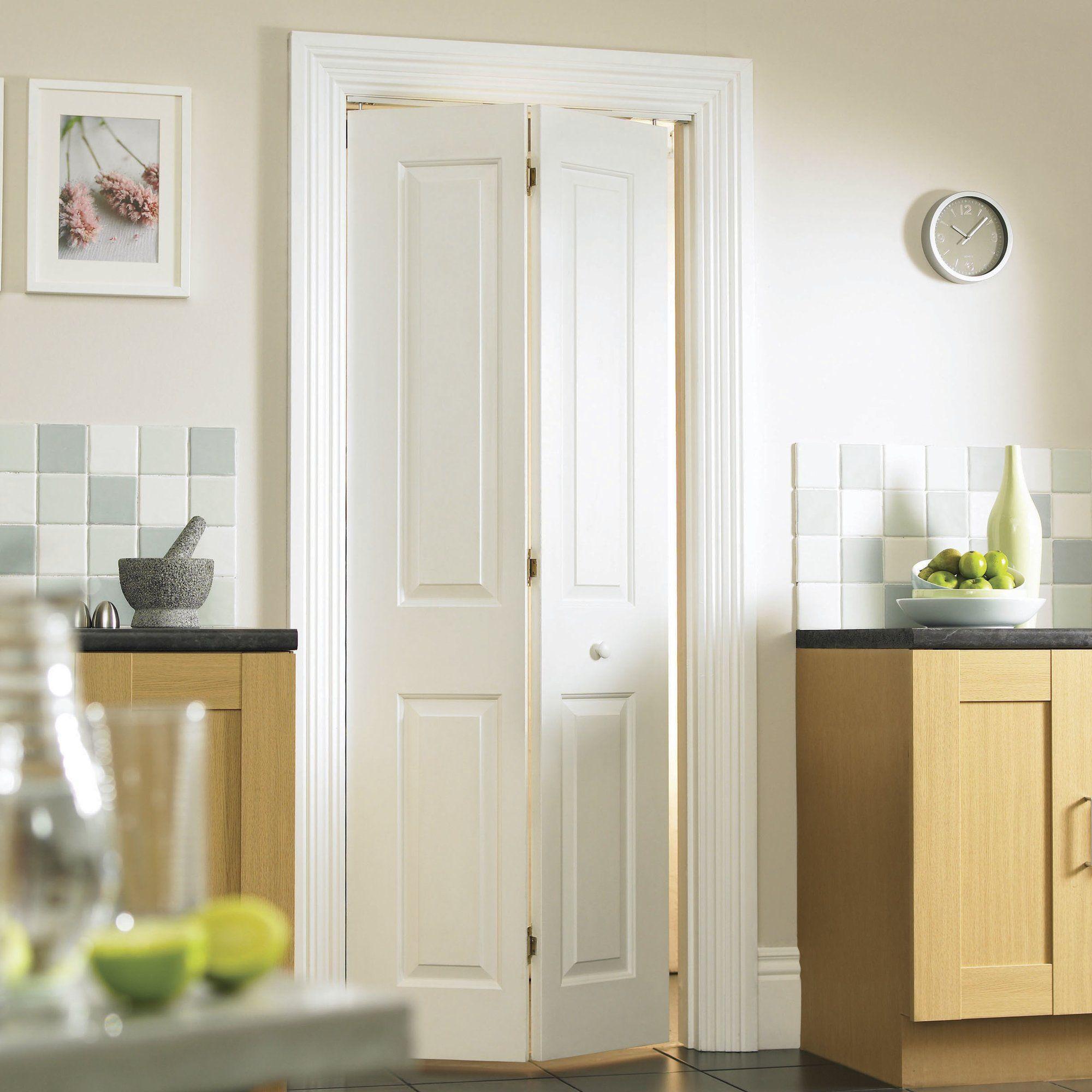 Atherton 4 Panel White Smooth Bi-Fold Internal Door & Atherton 4 Panel White Smooth Bi-Fold Internal Door | House ...