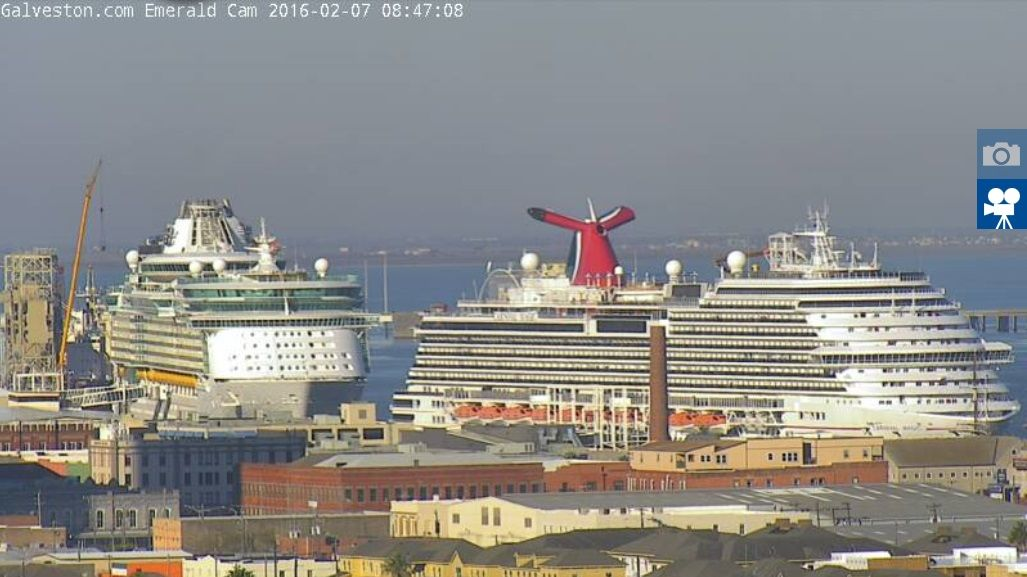 Webcam Images Of Liberty Of The Seas At Port Galveston Cruise - Liberty of the seas galveston