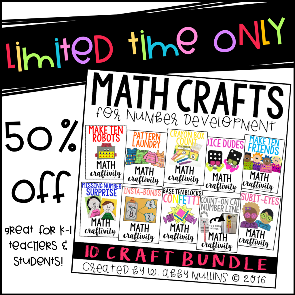 Math Crafts For Kindergarten And First Grade Students The Inspired
