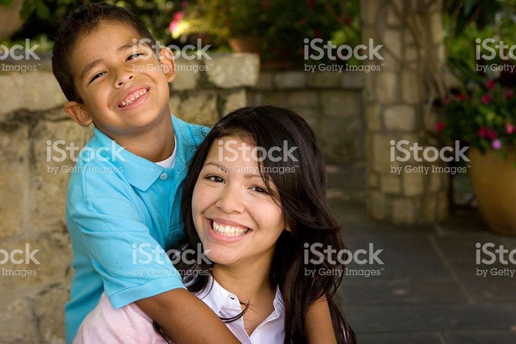 Hispanic mom and her son hispanic royalty free stock