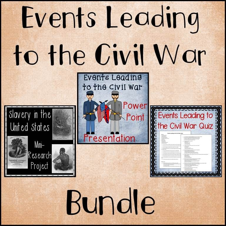 events that led to the civil war The overall trend that led to the civil war was the nation's inability to compromise effectively on the issue of slavery starting at the signing of the declaration of independence, slavery .