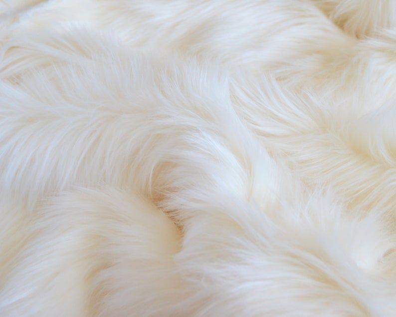 Off White Shag Fur Fabric Shag Fur Fur Fabrics Faux Fur Fabric