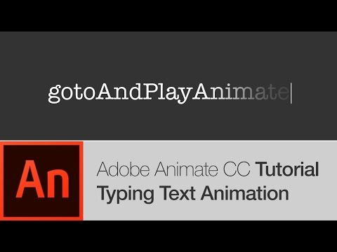Animate CC Tutorial: Typing Text Effect Animation (FREE
