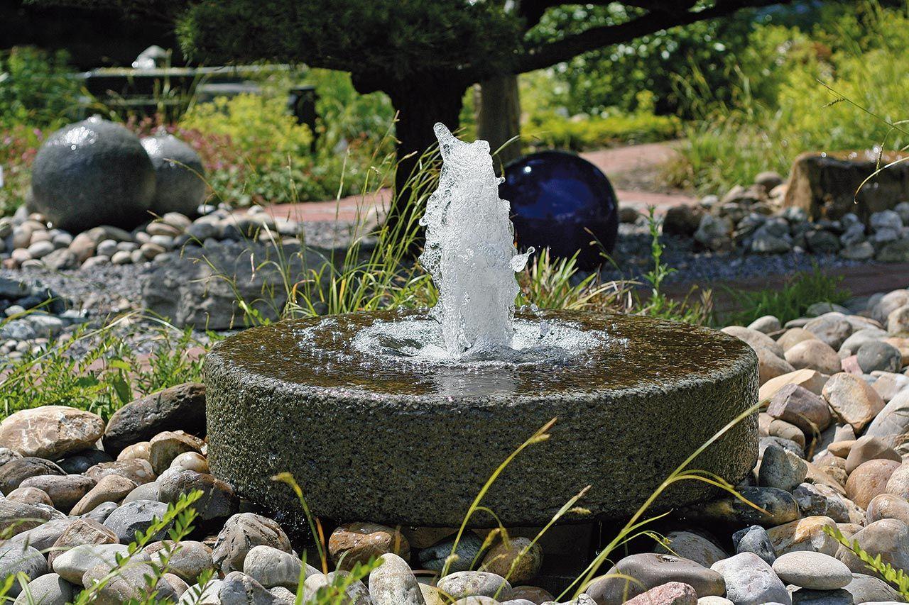 Hervorragend Stein Gartenbrunnen Steinbrunnen Brunnen Aus Stein Garnitsteinbrunnen  Mühlsteinbrunnen Stein Wasserschale Aus Springbrunnen Mit Fontäne