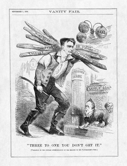 Political Cartoon Of The 1860 Election Showing Lincoln S Humble
