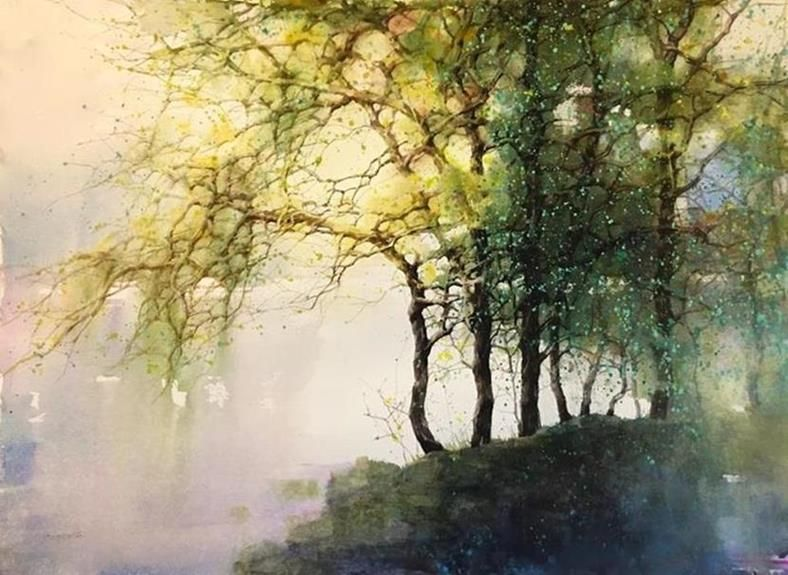 Best Watercolor Landscape Paintings By Z L Feng Watercolor