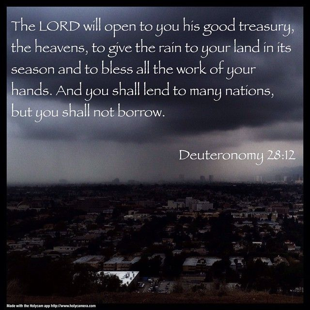 The Lord Will Open To You His Good Treasury, The Heavens