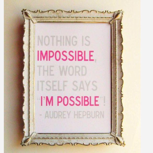 Audrey. Always right.