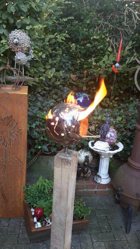 Gartenideen · Feuerkugel