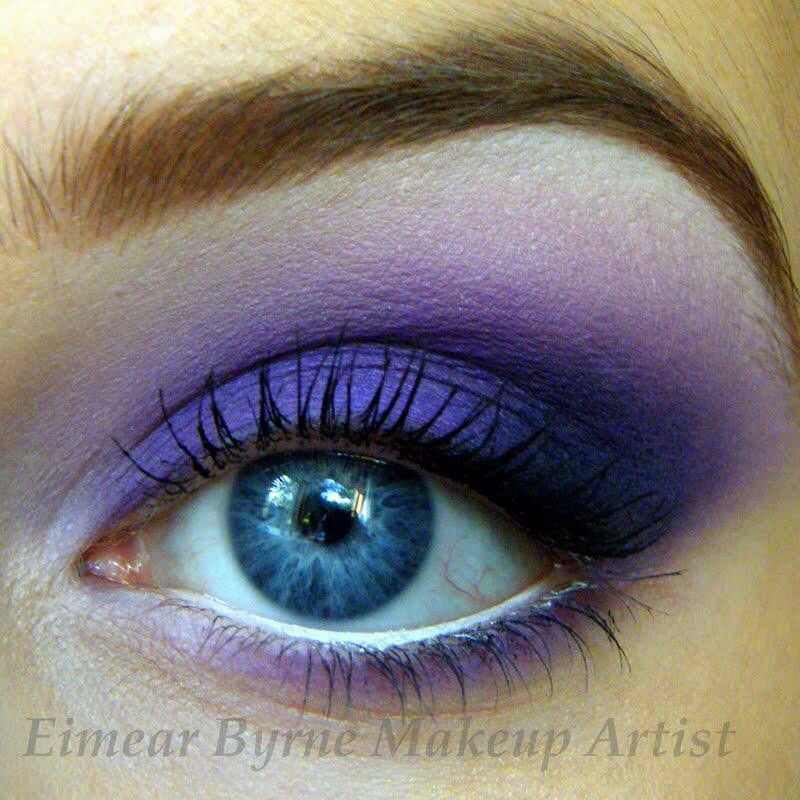 Purple/blue shadow