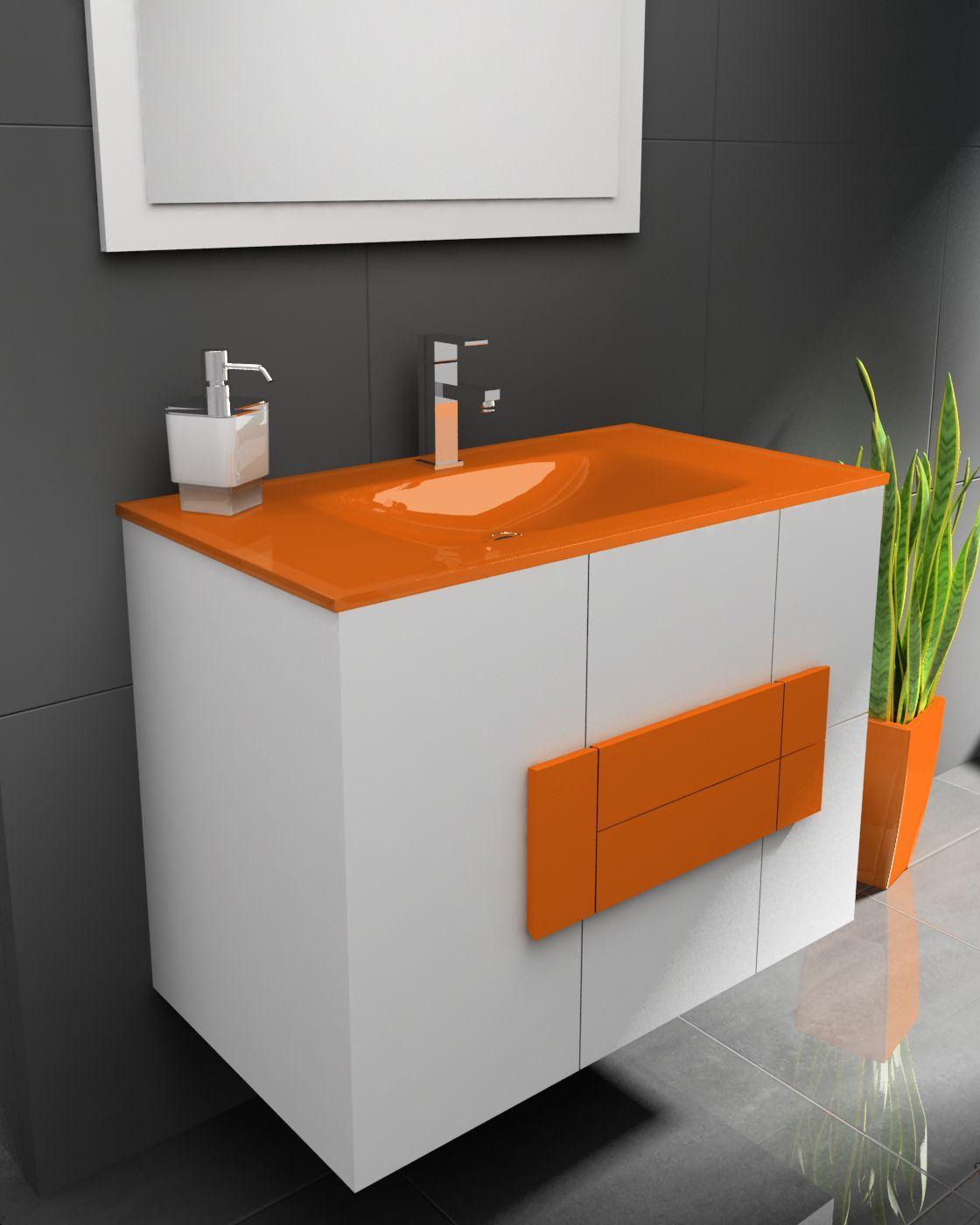 Mueble de baño suspendido modelo Albacete 80 cm. JrSik Fontanería.