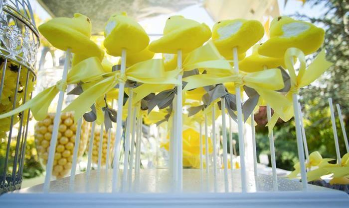 Yellow and gray wedding dessert table dessert tablescapes cake yellow and gray wedding dessert table junglespirit Images