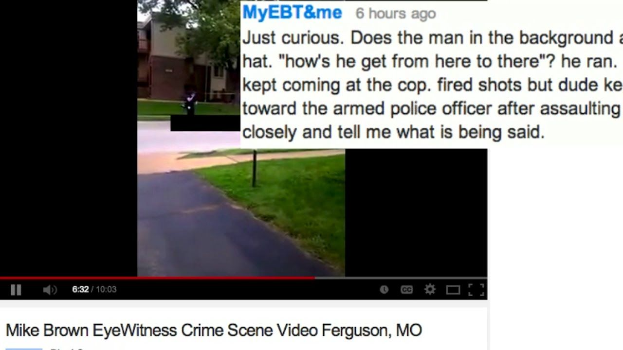 Witness To Michael Brown Shooting Dude Kept Coming Towards The