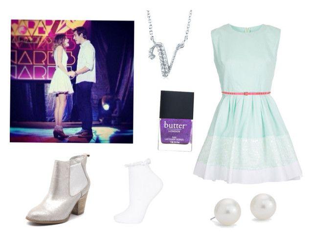 Blue dress accessories violetta