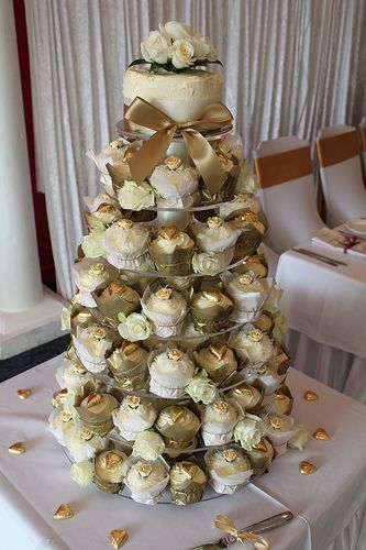 Image Result For Pink Gold Cupcake Tower