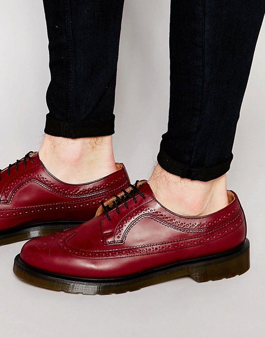Dr Martens 3989 Wing Tip Brogue at asos.com. Mens Red ShoesShoes MenMen's  ...
