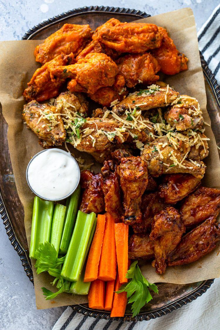 Crispy air fryer chicken wings 3 ways air fryer
