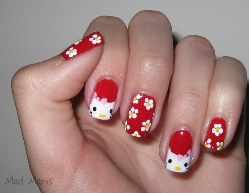 Crazy About Kitty | Hello kitty nails, Crazy nail art and Crazy nails