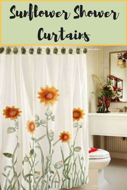 Sunflower Shower Curtains Diy Bathroom Decor Dorm