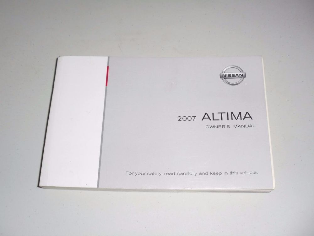 2007 nissan altima owners manual book guide owners manuals pinterest rh pinterest com Used 2007 Nissan Altima 2007 Nissan Altima Fuse Box